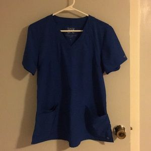 Royal blue scrub top size M
